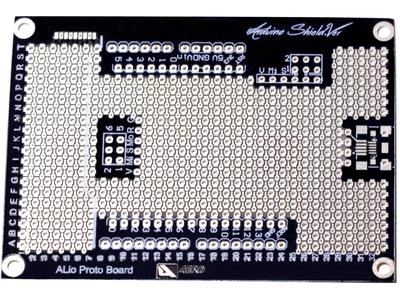 ALio Arduino-compatible board, top view.