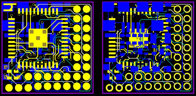 Layout for the final µduino.