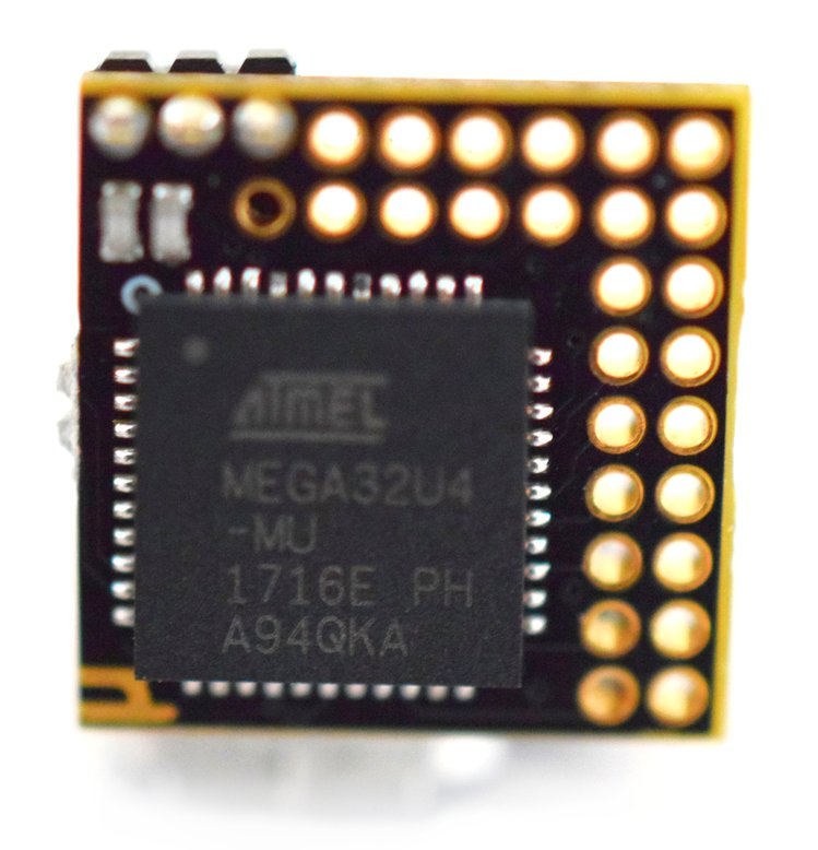 µduino uses the powerful and versatile ATMEGA32U4 microcontroller.