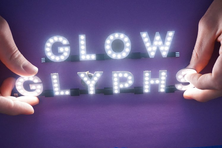 Glow Glyphs Chainable Leds Characters Crowd Supply