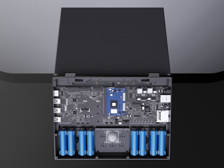 render of underside of laptop without enclosure