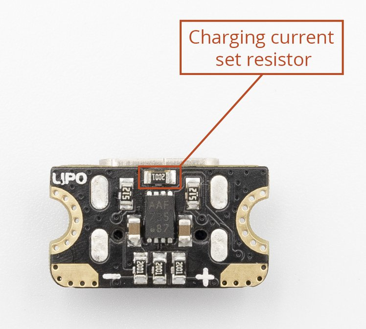 Ant2 charging current set resistor