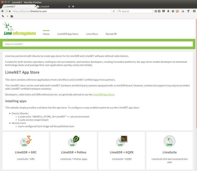 LimeSDR - Ubuntu App Store Progress | Crowd Supply