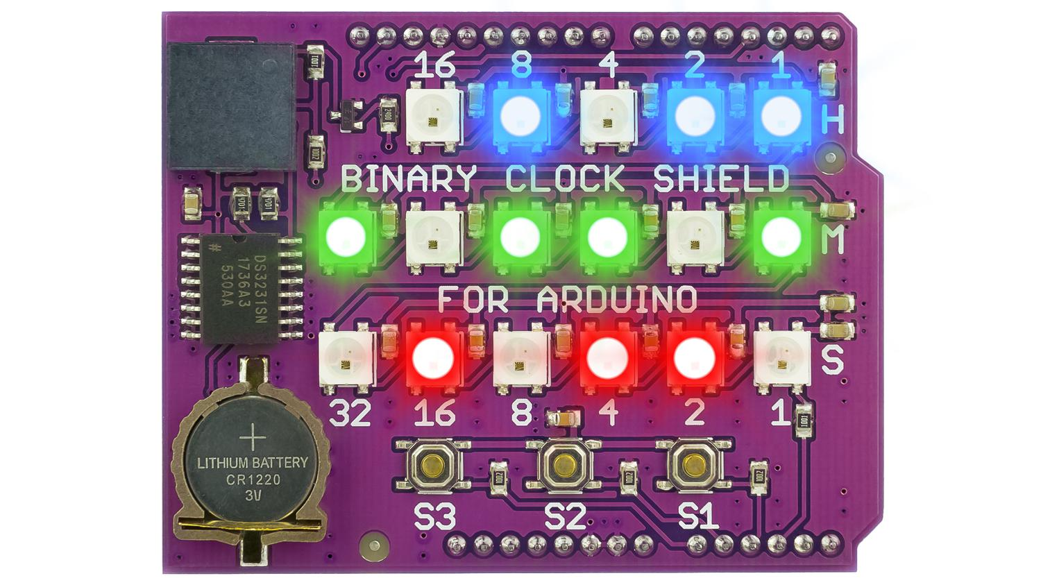 Binary Clock Shield | Crowd Supply