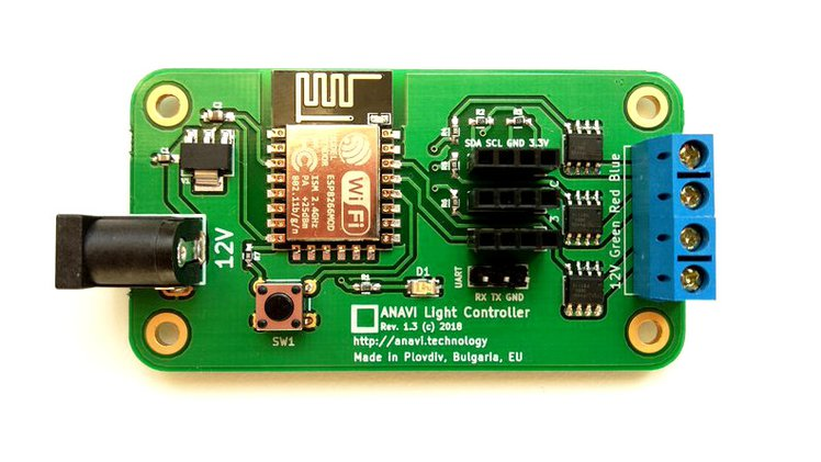 Anavi light controller crowd supply the printed circuit board was created using the free and open source application kicad the acrylic case was designed publicscrutiny Image collections