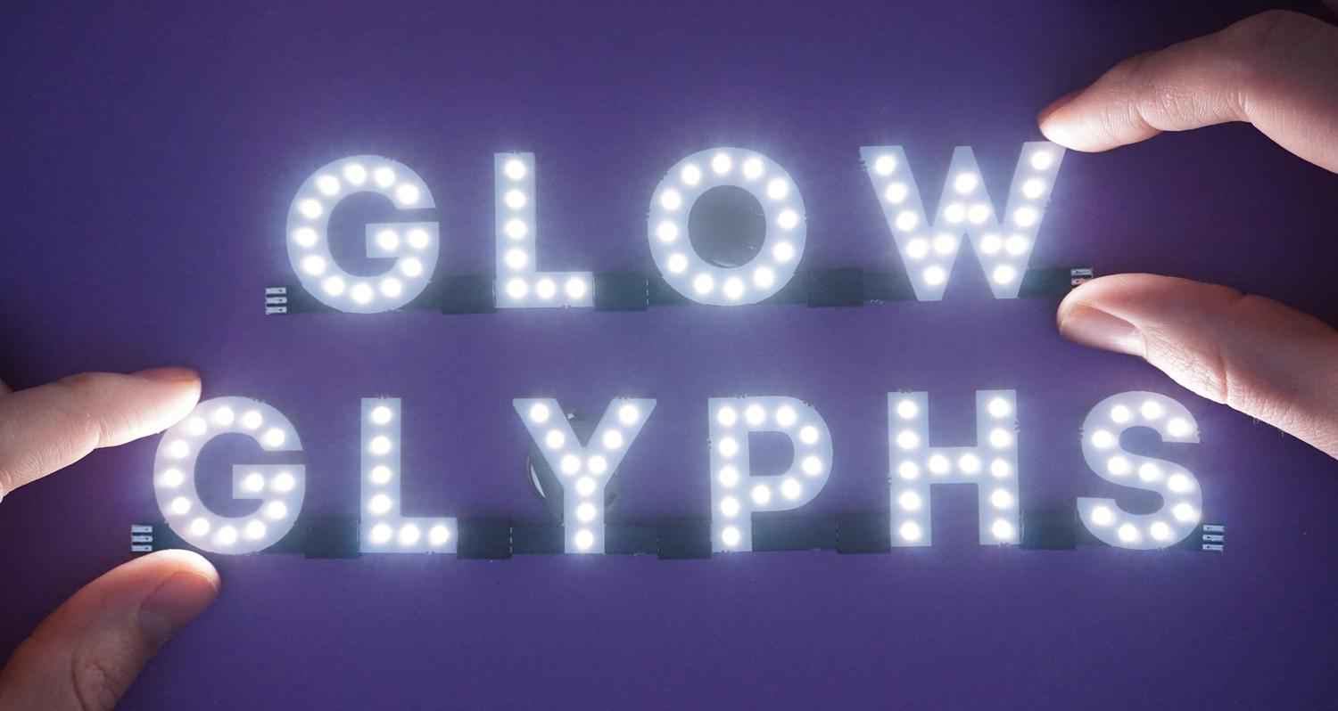 Glow Glyphs Chainable Leds Characters Crowd Supply Symbols For A Cell Not Battery And Lamp Look In Circuit