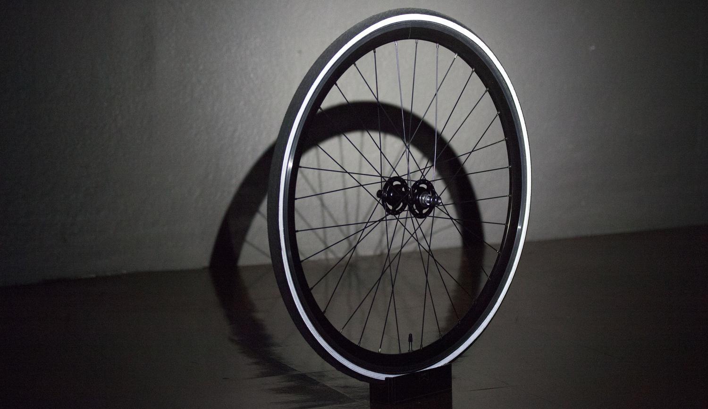 lit ultra reflective bike tire crowd supply