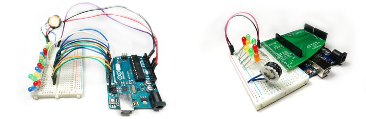 Connecting Arduino Uno to a row of LEDs, in jump wires. vs. in BreadShield