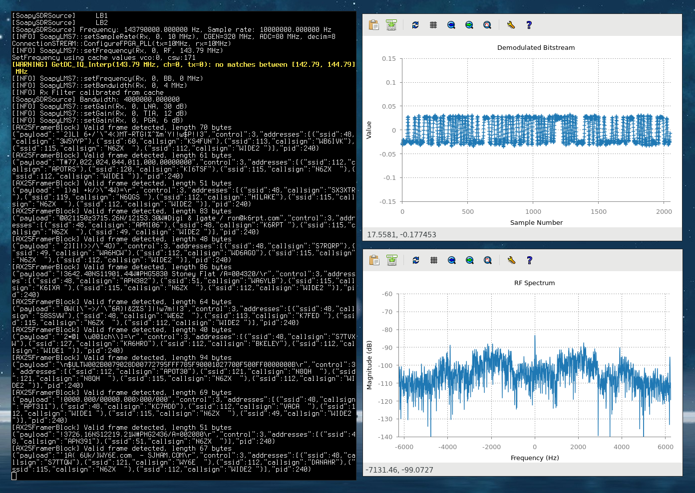 LimeSDR - SPI Speed Optimisation, LuaRadio and Arch Linux
